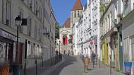 La rue saint Blaise et l'église saint Germain de Charonne